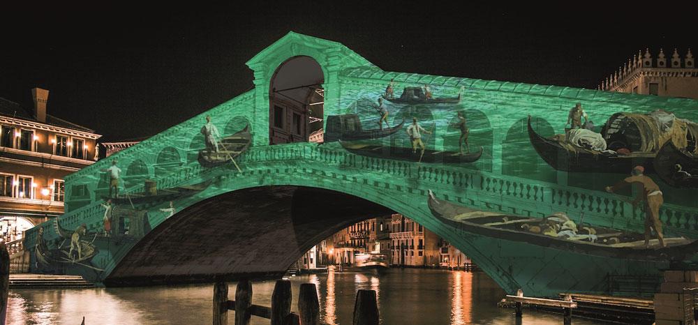 Videoproiezioni sul Ponte di Rialto raccontano i 1600 anni della fondazione di Venezia