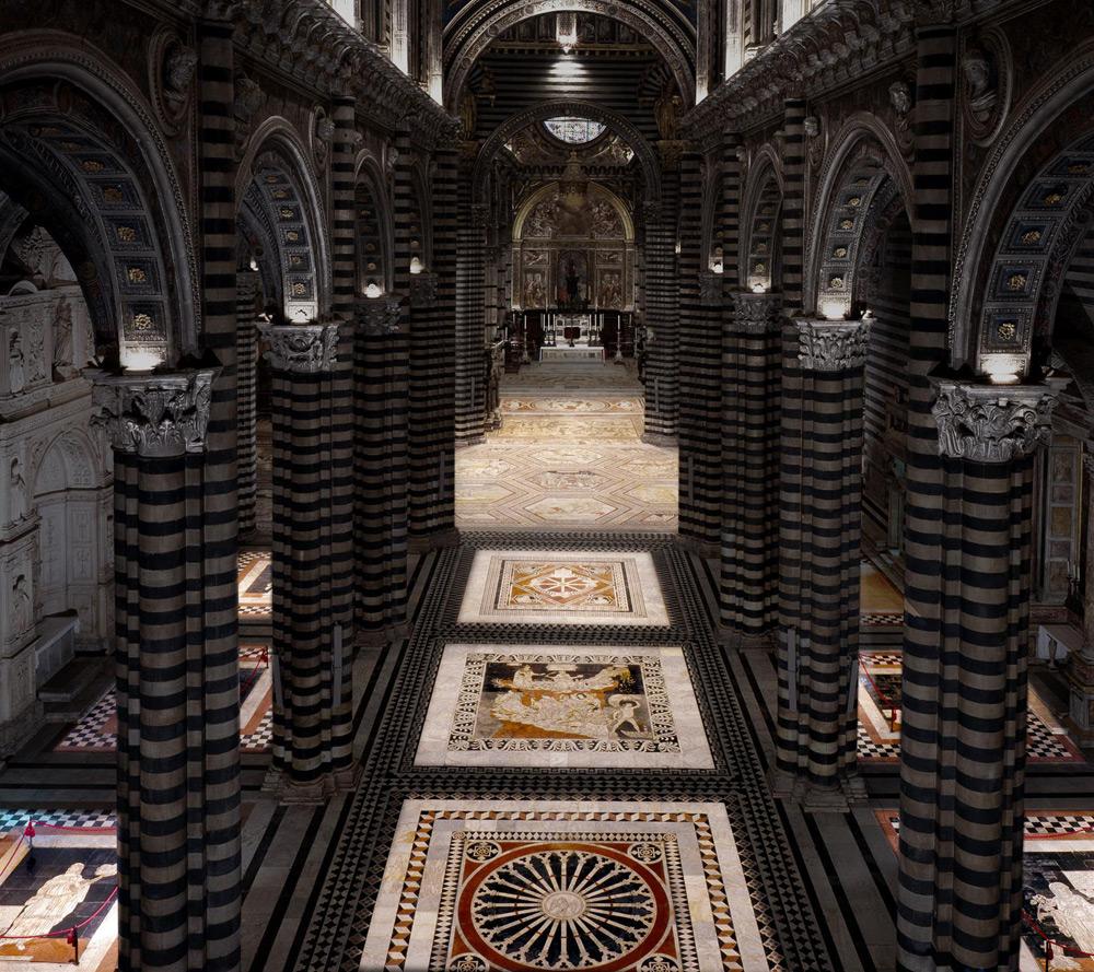 Nuova straordinaria scopertura del pavimento del Duomo di Siena