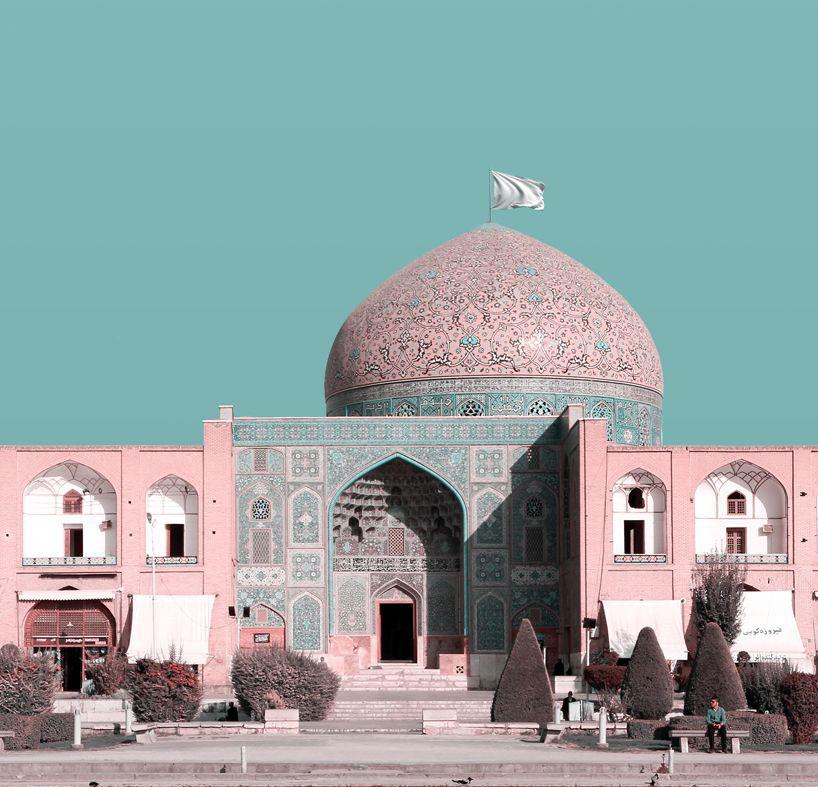 Bandiere bianche sui monumenti: con i suoi fotomontaggi, un architetto iraniano risponde a Donald Trump