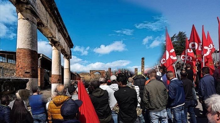 Pompei, scioperano i dipendenti del concessionario per la riduzione dell'orario