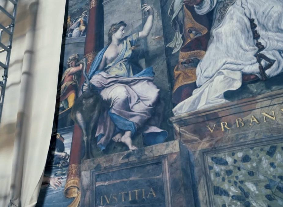 I Musei Vaticani svelano per la prima volta le ultime pitture di Raffaello: la Giustizia e la Cortesia