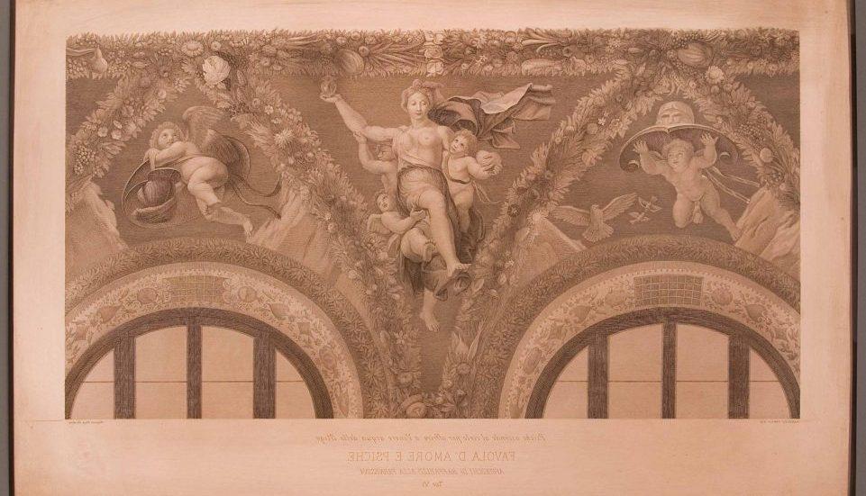 La favola di Amore e Psiche di Raffaello in versione stampa: una mostra alla Villa Farnesina