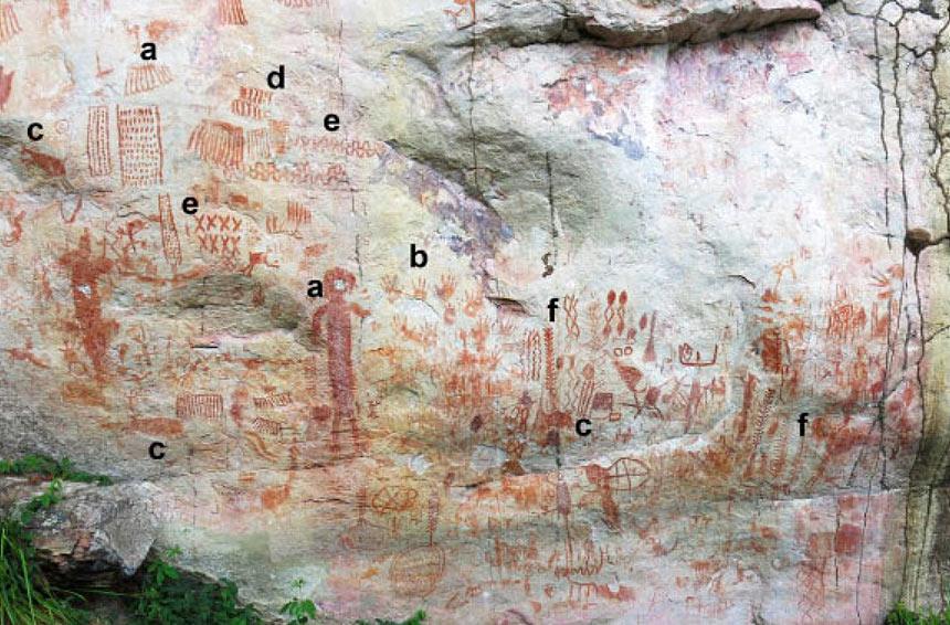 Colombia, scoperte migliaia di pitture rupestri con raffigurazioni di animali giganti