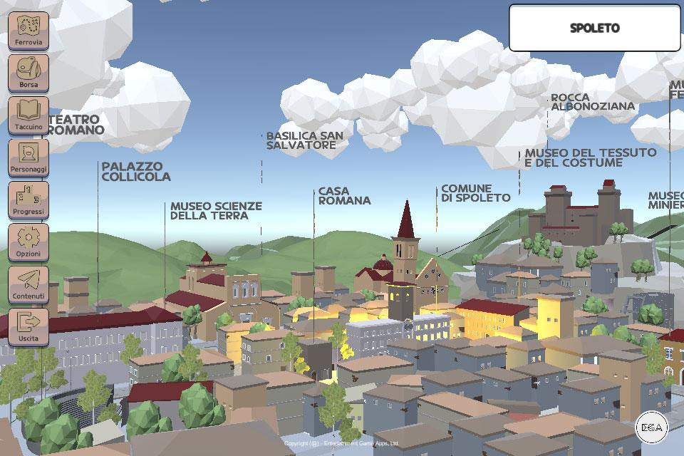 Nasce un videogioco per conoscere il territorio di Spoleto e della Valnerina