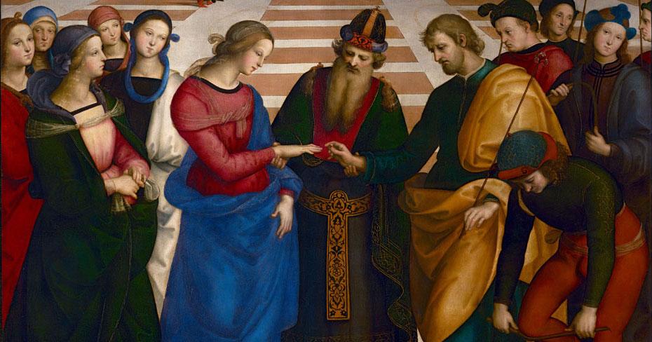 Sposalizio della Vergine di Raffaello ricollocato nel luogo d'origine, ma è un clone