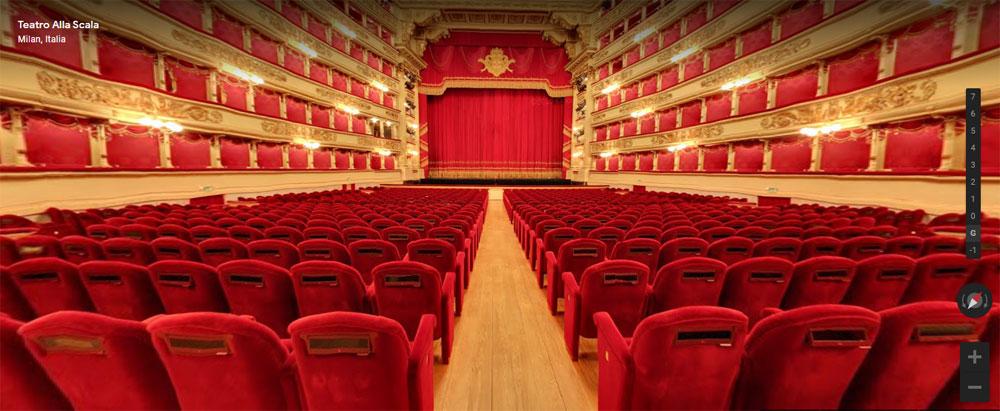 Il Teatro alla Scala è su Google Arts & Culture: viaggio virtuale tra gli ambienti e nell'immenso archivio