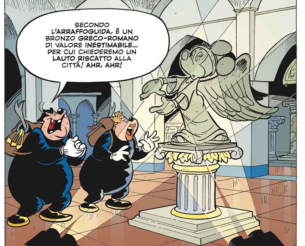 Topolino e la Minni Alata, l'omaggio Disney alla celebre statua restaurata di Brescia