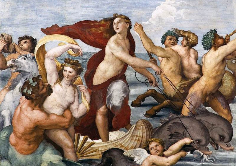Blu egizio nella Galatea di Villa Farnesina. Eccezionale scoperta su Raffaello