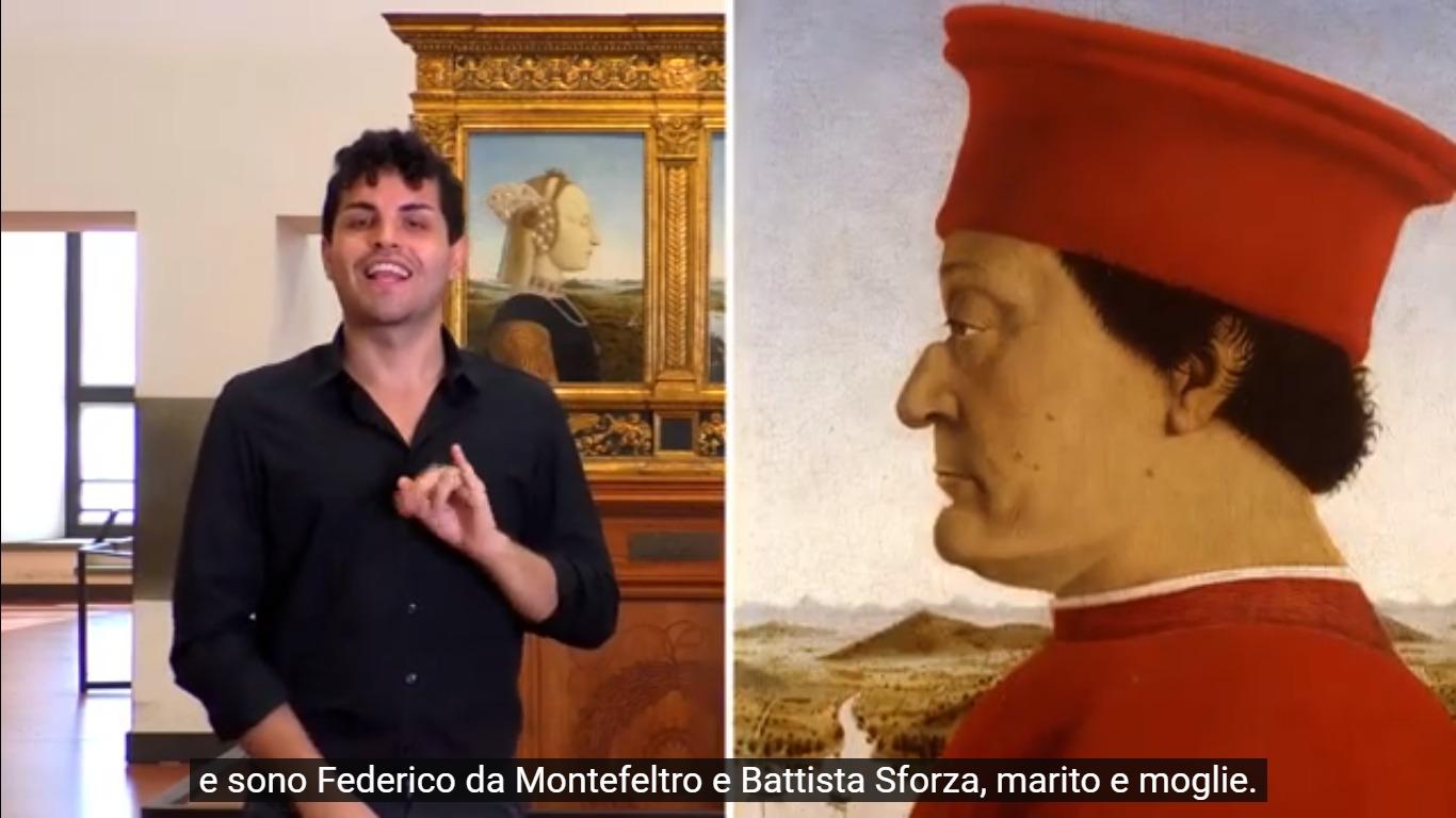 Gli Uffizi raccontano le loro opere ai non udenti online con la lingua dei segni