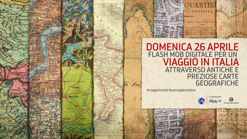 Viaggio in Italia attraverso le carte geografiche: il flash mob del MiBACT
