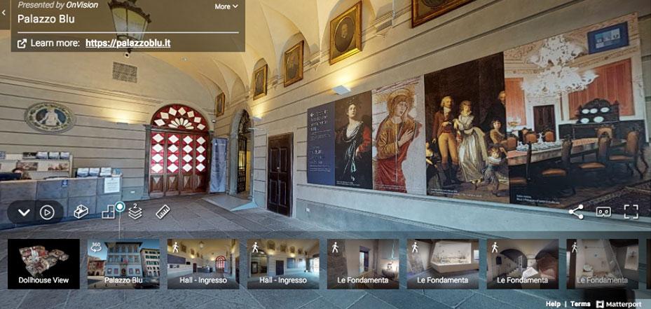 Virtual tour per conoscere le sale e le opere di Palazzo Blu
