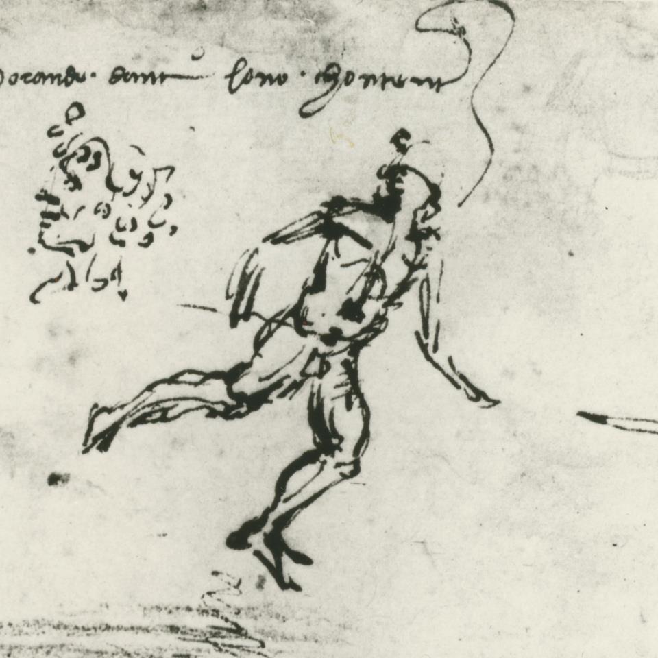 Leonardo, Paesaggio, (part). Firenze, Galleria degli Uffizi, Gabinetto Disegni e Stampe, 8 P v
