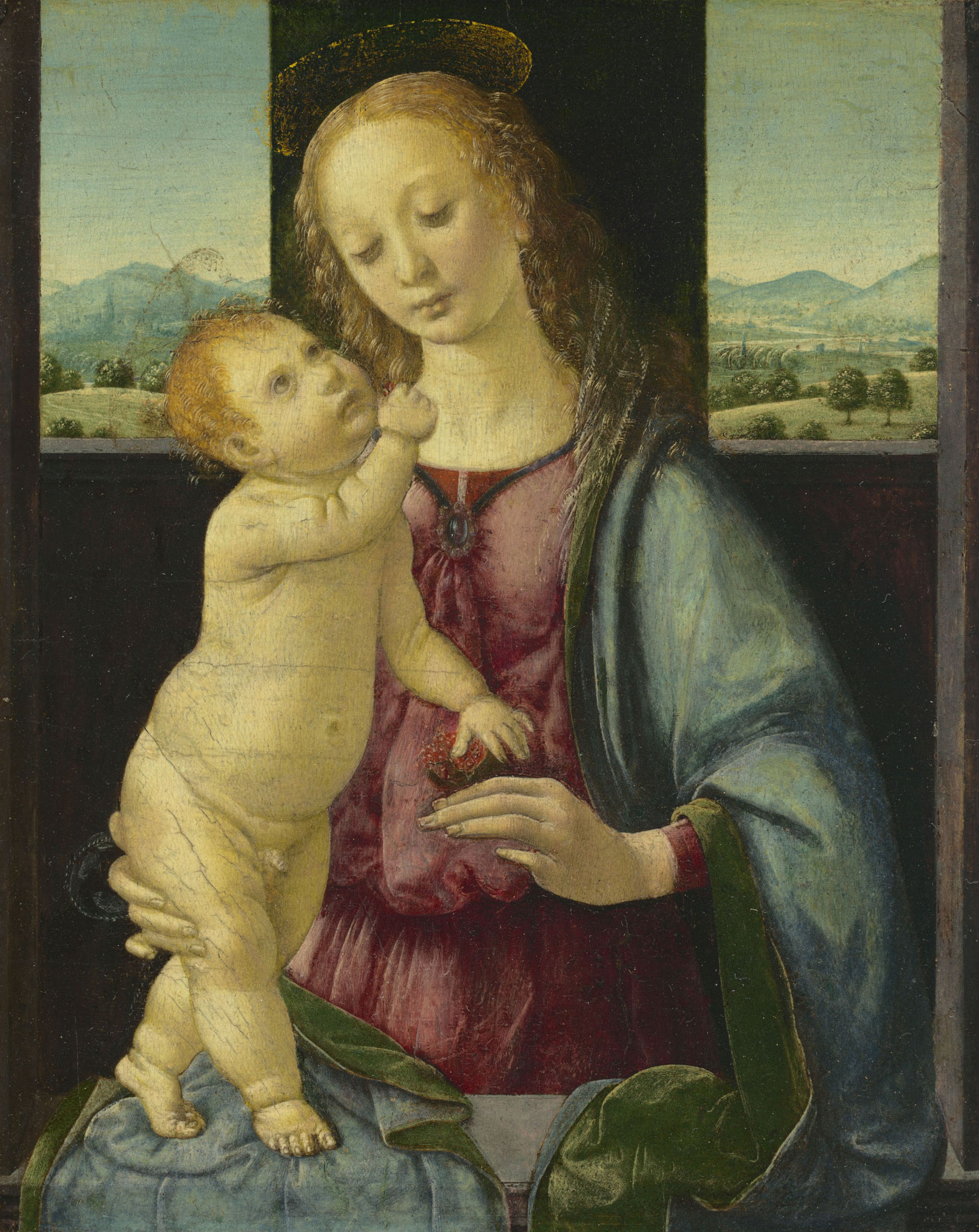 Leonardo (attr. a Lorenzo di Credi), Madonna della melagrana, nota anche come Madonna Dreyfus. Washington, National Gallery of Art