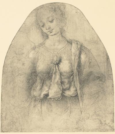 Leonardo (attr. a Lorenzo di Credi), Studio per la Madonna della melagrana. Dresda, Kupferstich Kabinett