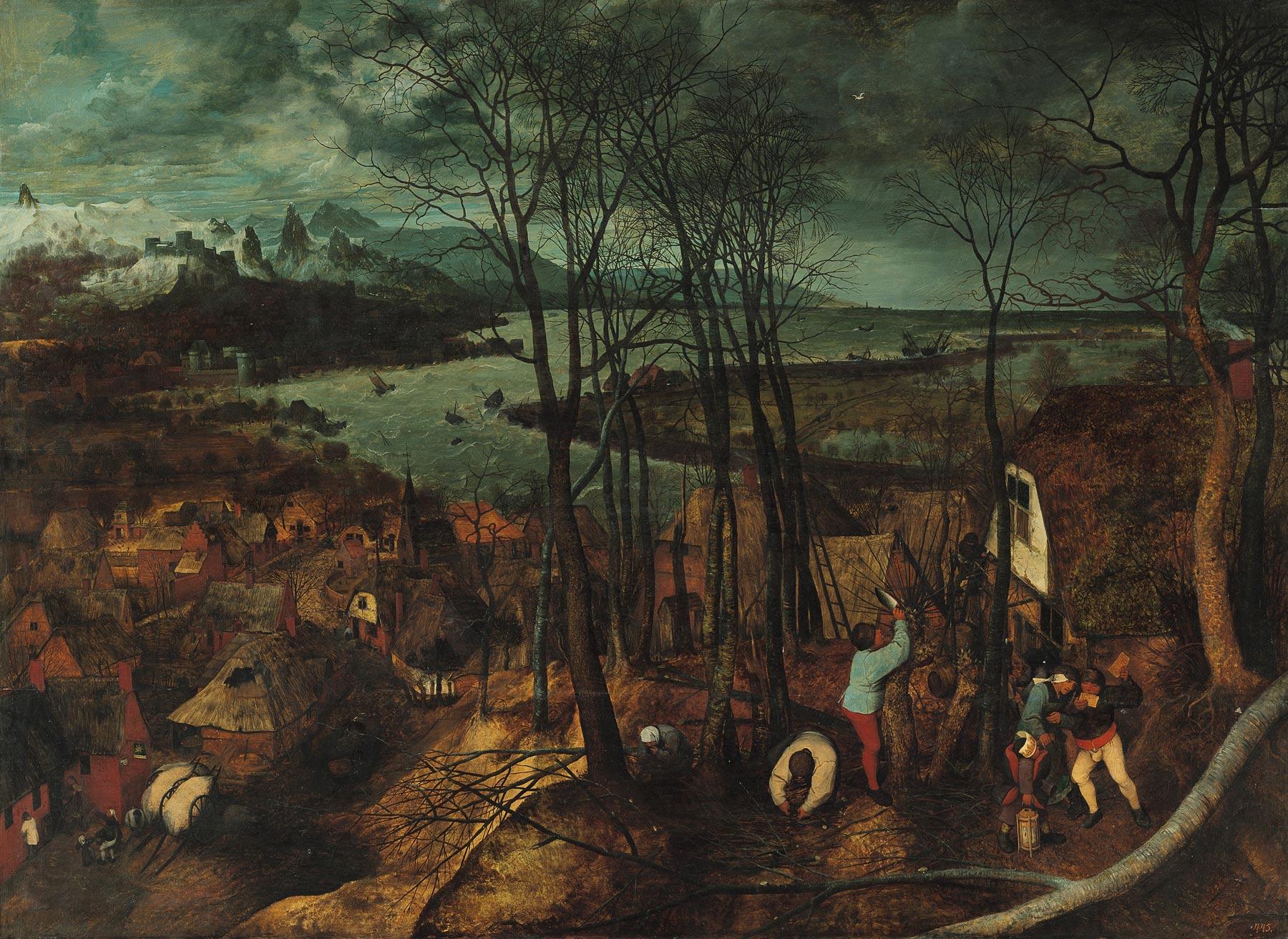 Pieter Bruegel, La giornata buia (1565; olio su tavola, 118 x 163 cm; Vienna, Kunsthistorisches Museum)