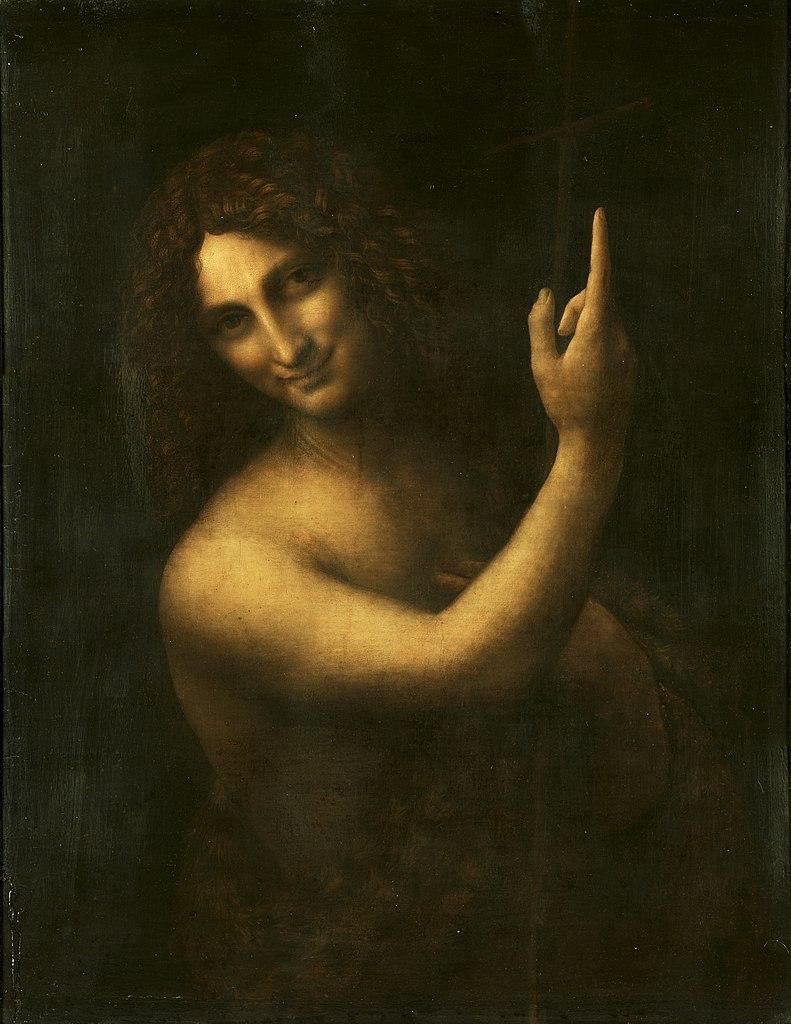 Leonardo da Vinci, San Giovanni Battista (1508-1513; olio su tavola, 69 x 57 cm; Parigi, Louvre)