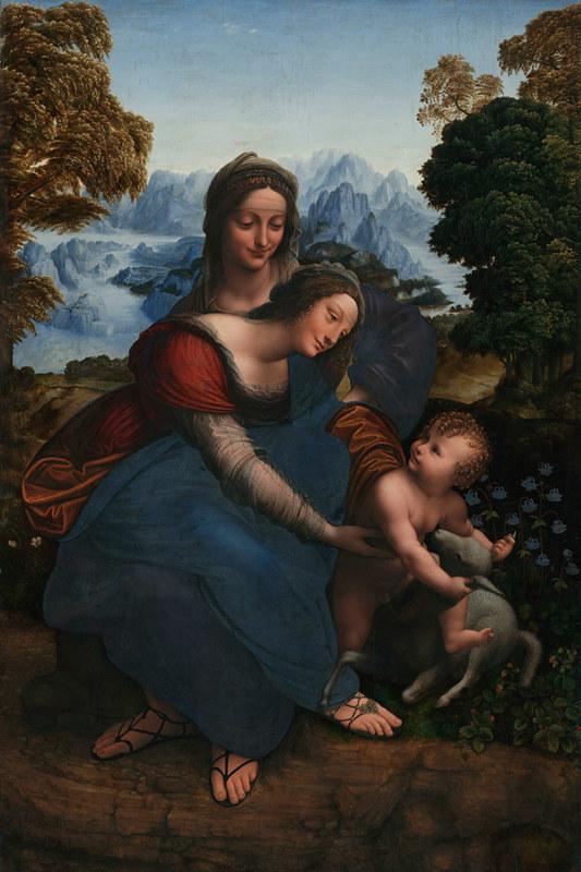 Gian Giacomo Caprotti detto il Salaì (?), Madonna col Bambino e sant'Anna (1520 circa; olio su tavola, 177,8 x 114,3 cm; Los Angeles, University of California, Wight Art GAllery)