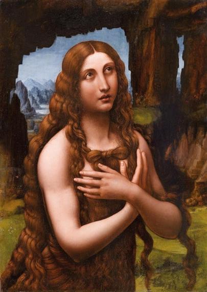 Seguace di Leonardo da Vinci, Maddalena penitente (1525 circa?; olio su tavola, 74 x 53 cm; Collezione privata)