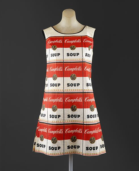 Andy warhol, the souper dress (1966-1967; new york, the metropolitan museum)