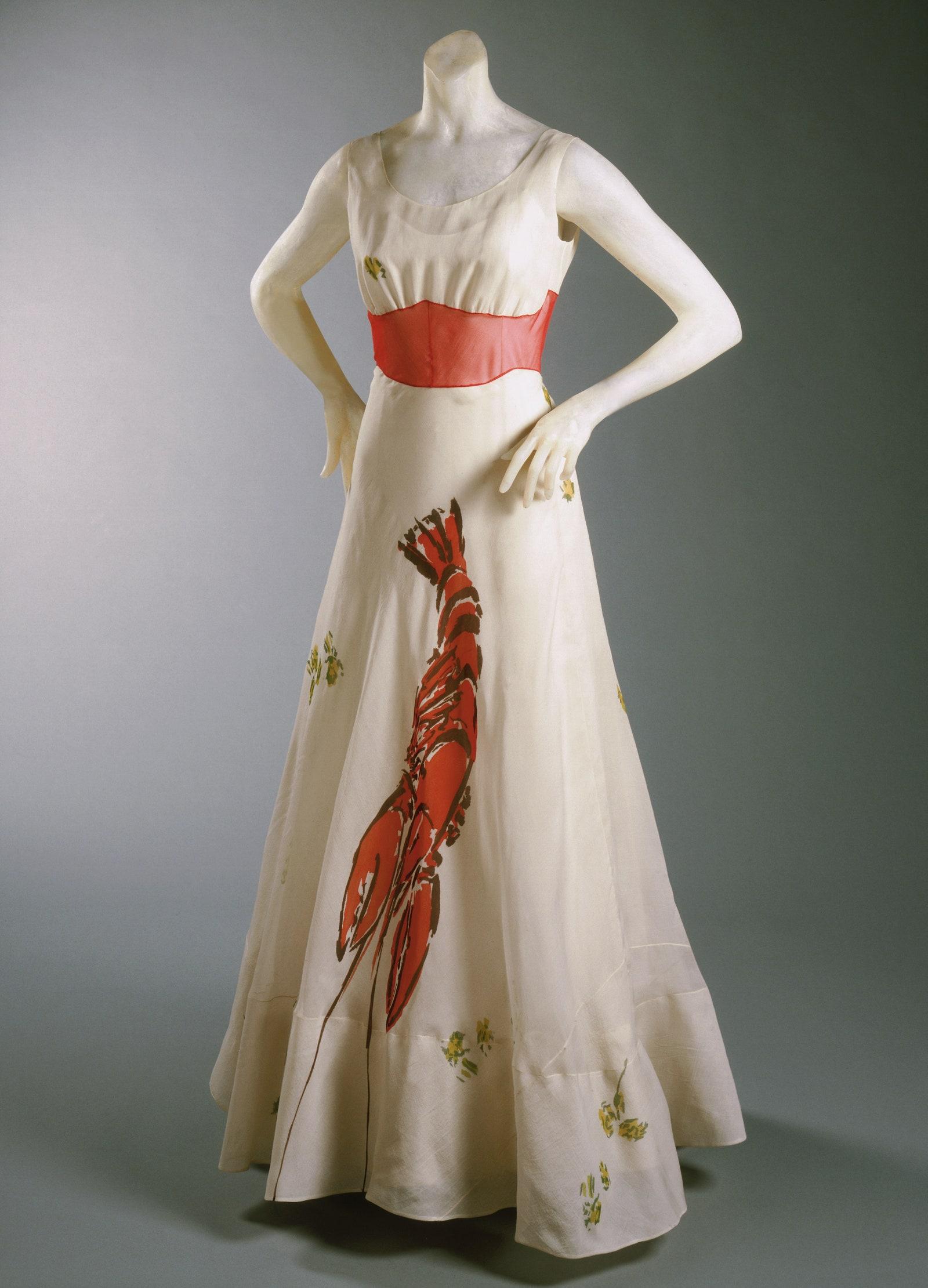 Elsa schiaparelli e salvador dalí, abito aragosta (1937)