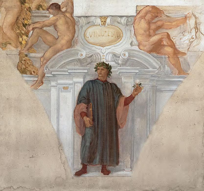 Adolfo De Carolis, Guido Guinizzelli (1914; bozzetto per la decorazione del Palazzo del Podestà, olio su tela, 143 x 152,5 cm; Montefiore dell'Aso, Polo Museale San Francesco)