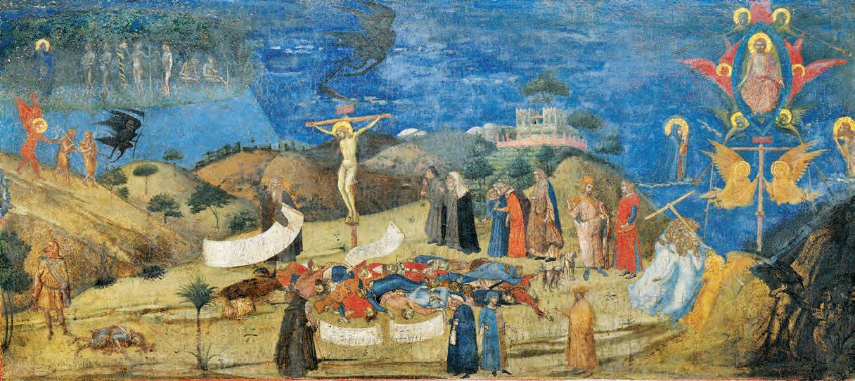 Ambrogio Lorenzetti, Allegoria della Redenzione (1338 circa; tempera e oro su tavola, 59,5 x 120 cm; Siena, Pinacoteca Nazionale)
