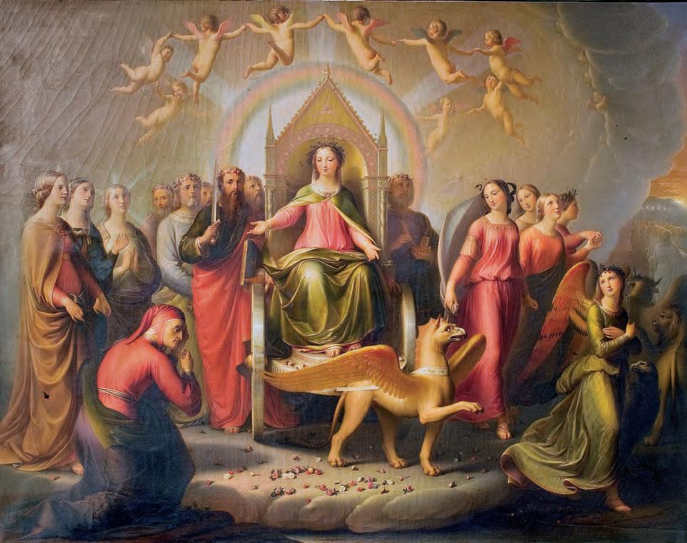 Andrea Pierini, Incontro di Dante con Beatrice nel Purgatorio (1853; olio su tela, 139 x 178 cm; Firenze, Gallerie degli Uffizi, Palazzo Pitti, Galleria d'Arte Moderna)
