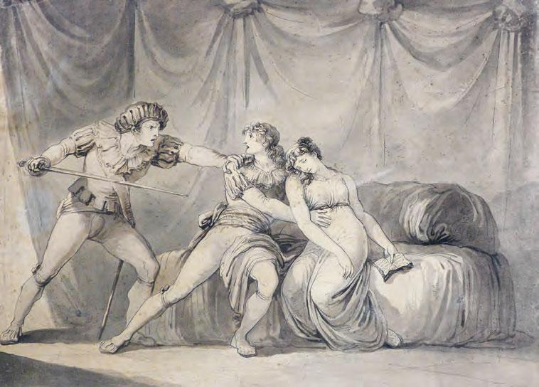 Bartolomeo Pinelli, Amor condusse noi ad una morte (1807; inchiostro e acquerello su carta, 605 x 798 mm; Forlì, Biblioteca Aurelio Saffi, Fondo Piancastelli)