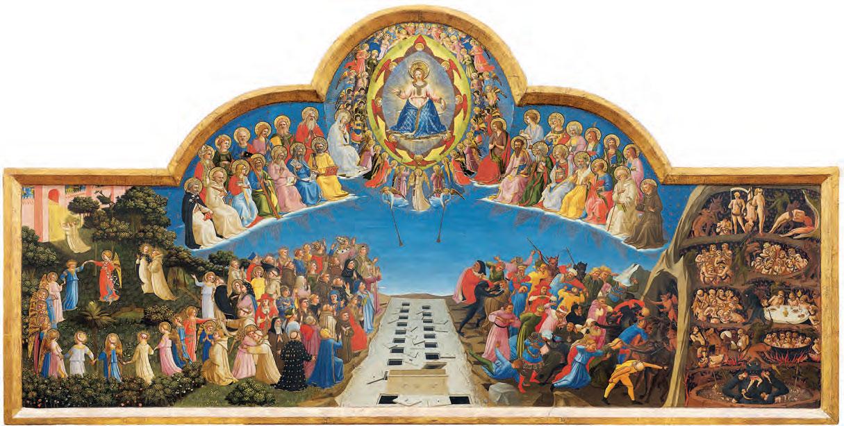 Beato Angelico, Giudizio Universale (1425-1428; tempera su tavola, 105 x 210 cm; Firenze, Museo di San Marco)