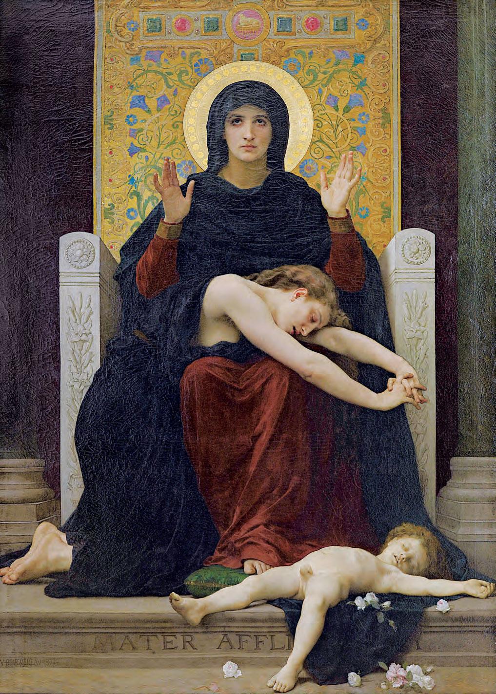 William-Adolphe Bouguereau, Vergine consolatrice (1877; olio su tela, 204 x 148 cm; Parigi, Musée d'Orsay, in deposito presso il Musée des Beaux-Arts, Strasburgo)