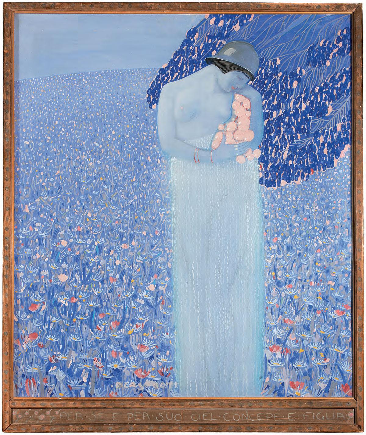 Felice Casorati, Fa come natura face in foco (Par., IV, 77) (1917; tempera su tela, 120 x 110 cm; Collezione privata, courtesy Galleria Narciso, Torino)