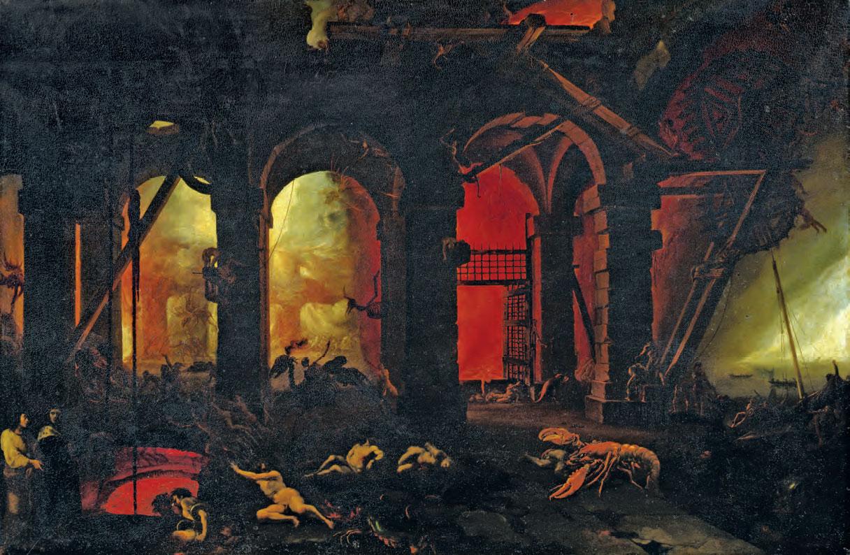 Filippo Napoletano, Dante e Virgilio all'Inferno (ante 1618-1620; olio su tavola, 44 × 67 cm; Firenze, Gallerie degli Uffizi, Gallerie delle Statue e delle Pitture)