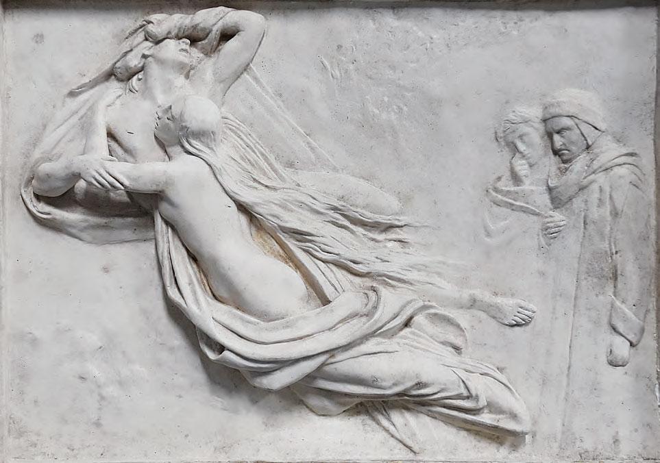 Frédéric-Auguste Bartholdi, da Ary Scheffer, Francesca da Rimini (1854; gesso, 53,3 x 67,5 cm; Colmar, Musée Bartholdi)