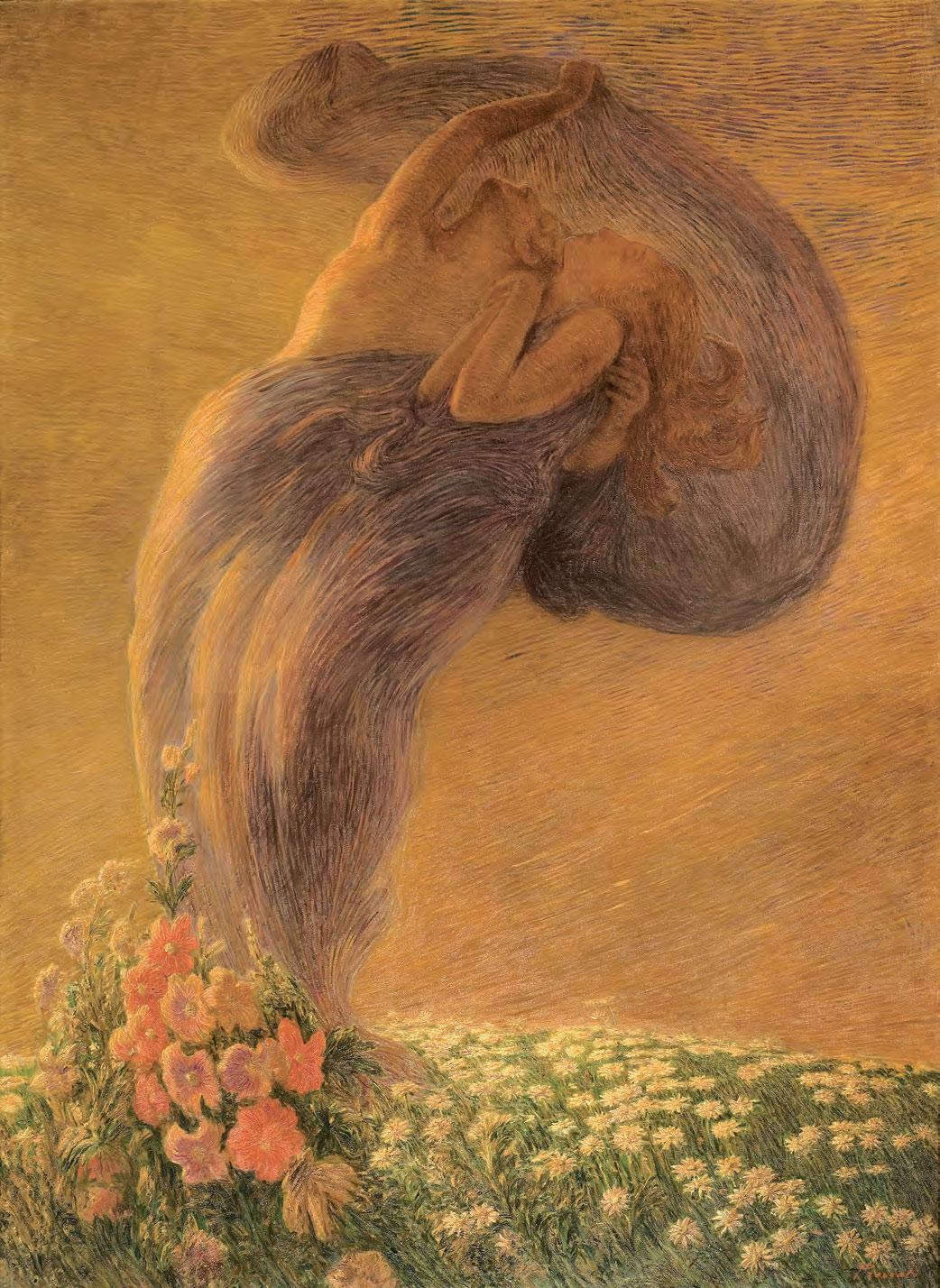 Gaetano Previati, Il sogno (1912; olio su tela, 225 x 165 cm; collezione privata)