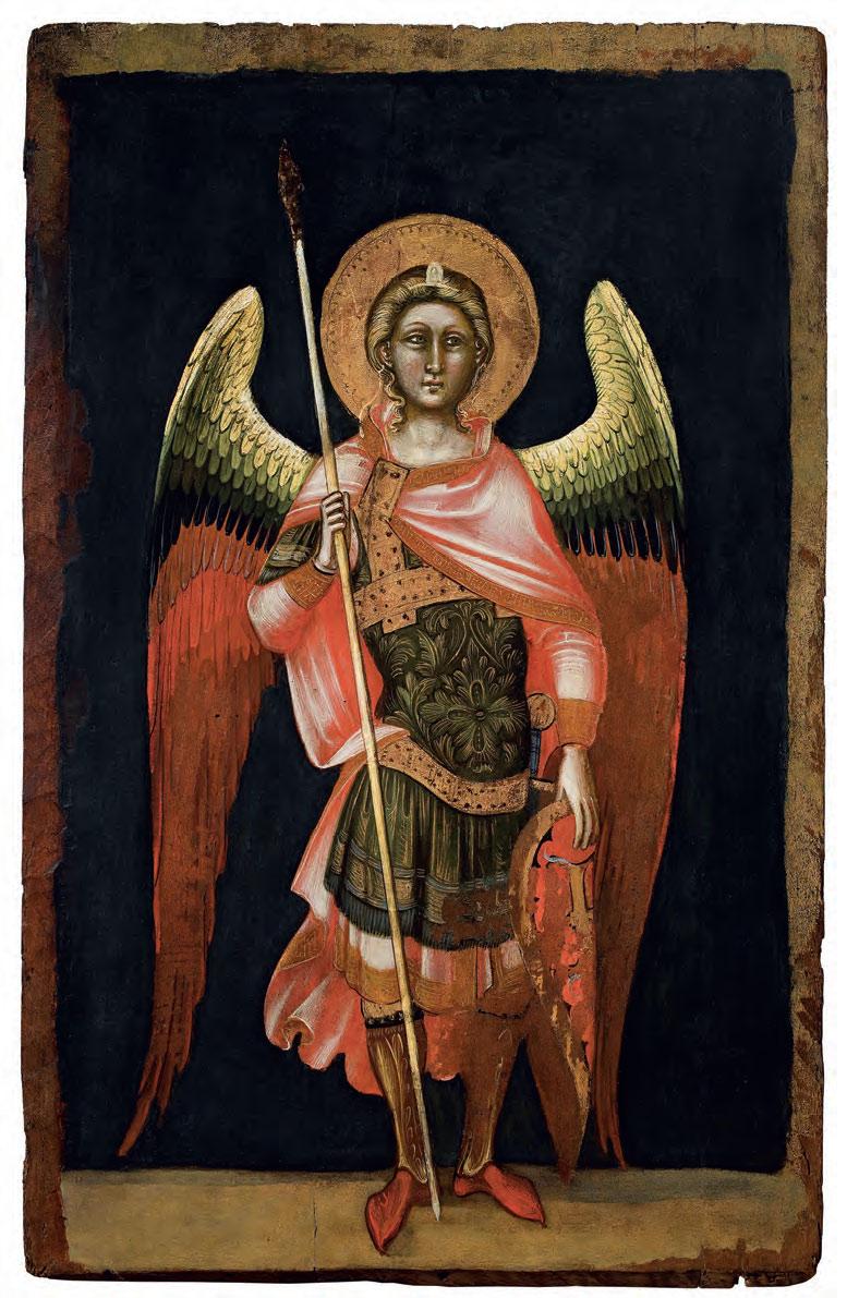 Guariento di Arpo, Angelo dei Principati (1351-1354; tempera su tavola, 90 × 58 cm; Padova, Museo d'Arte Medievale e Moderna)