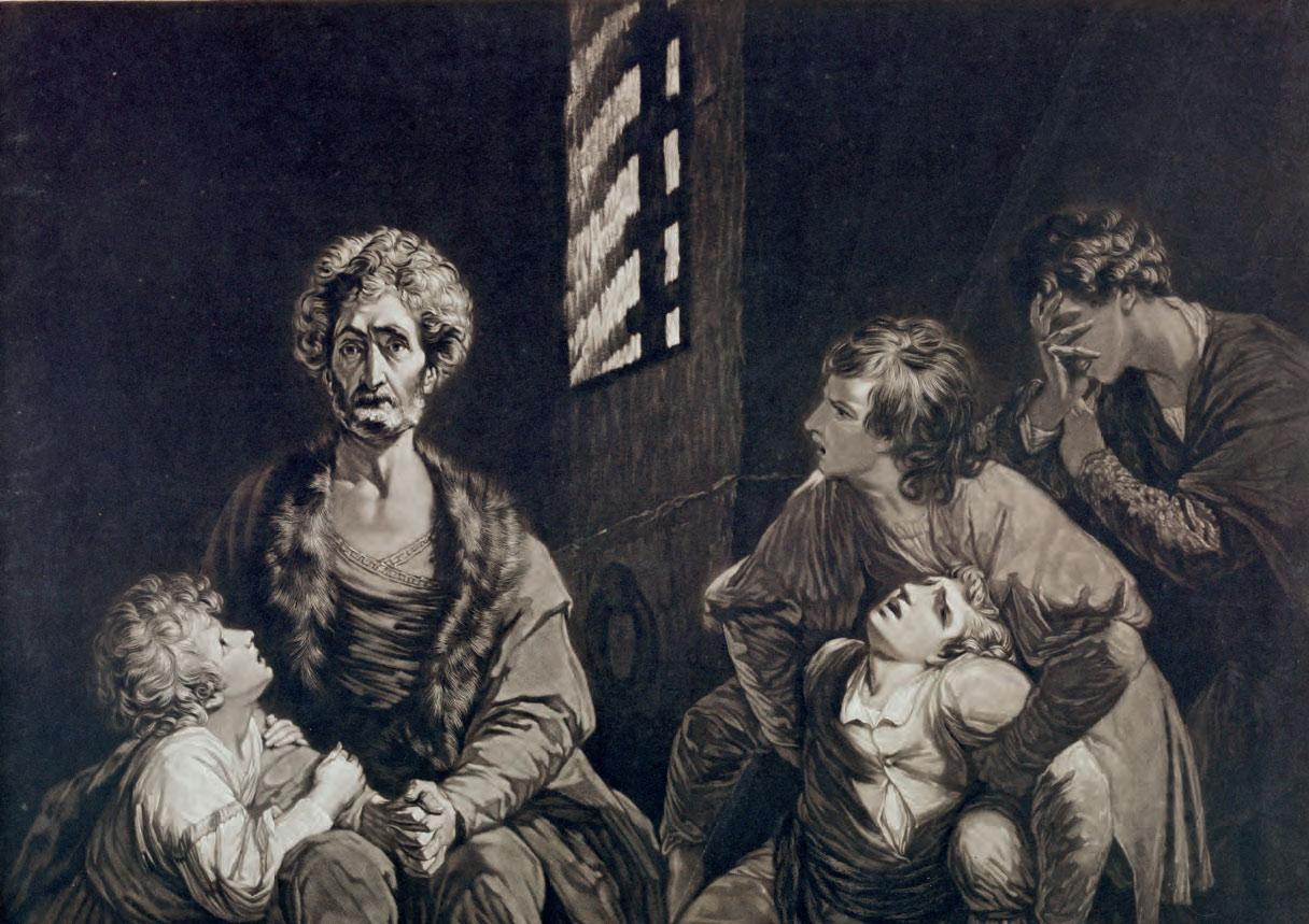 John Dixon (da Joshua Reynolds), Ugolino (1774; incisione a mezzotinto, 505 x 625 mm; Roma, Istituto centrale per la grafica, deposito Accademia Nazionale dei Lincei)