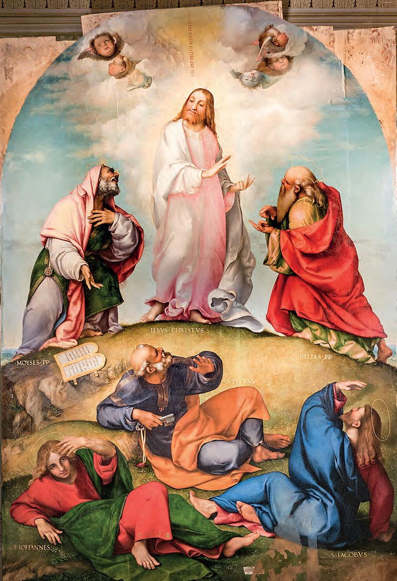 Lorenzo Lotto, Trasfigurazione (1511 circa; olio su tavola, 302 x 212 cm; Recanati, Museo Civico Villa Colloredo Mels)