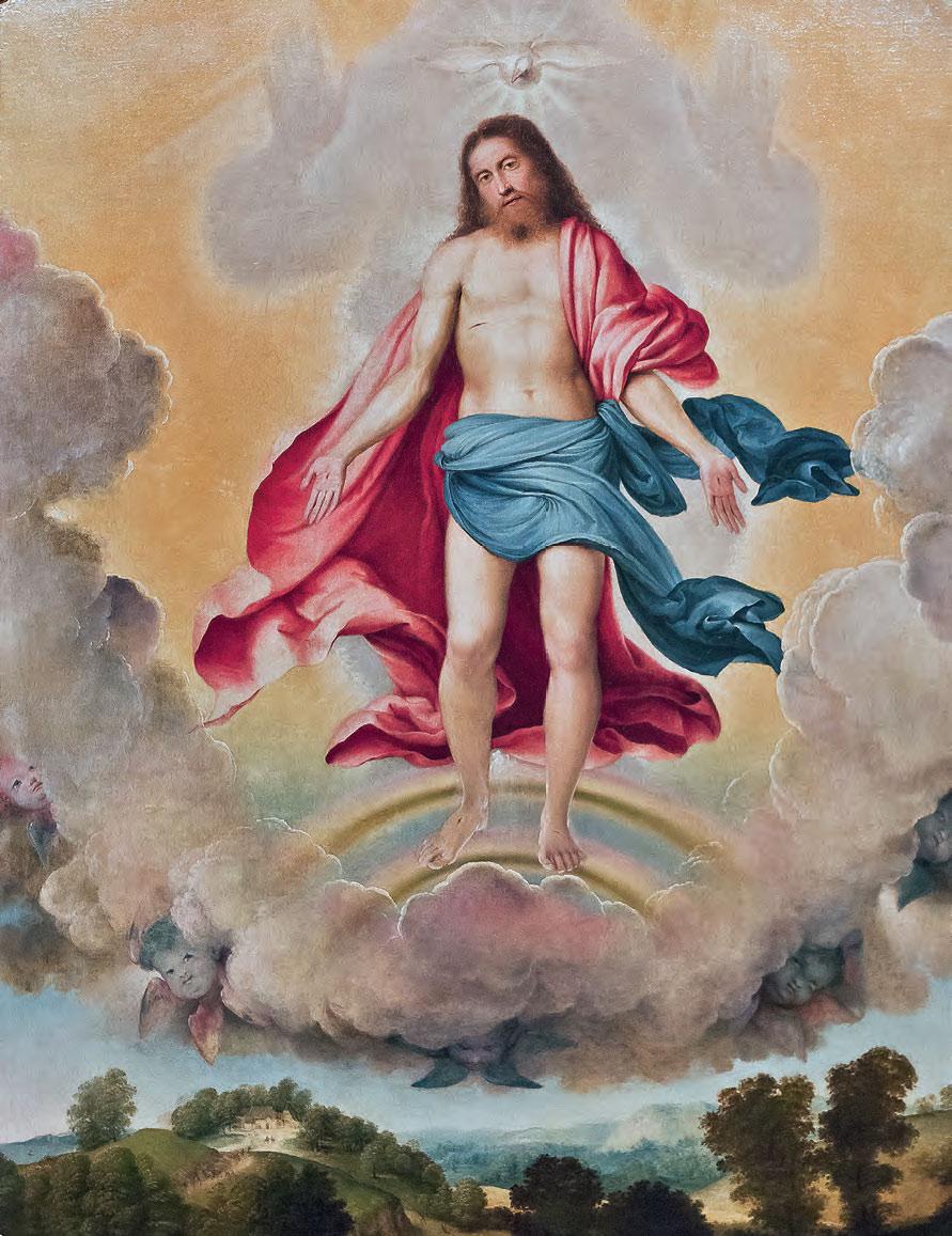Lorenzo Lotto, Trinità (1519-1520; olio su tela, 175 x 124 cm; Bergamo, chiesa di Sant'Alessandro della Croce, in deposito presso il Museo Adriano Bernareggi)