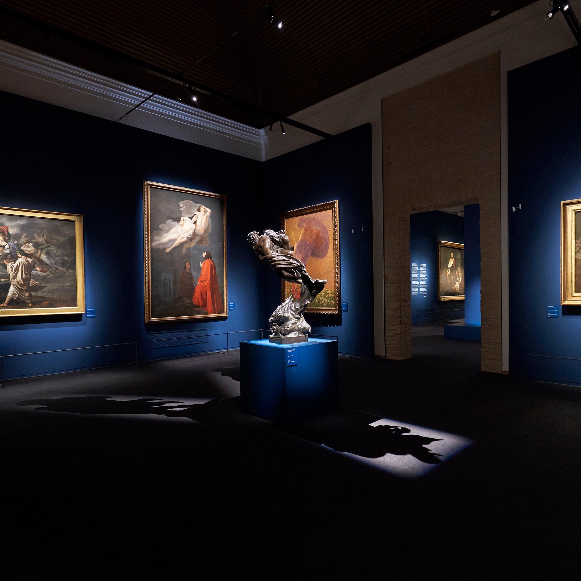 Sala della mostra Dante. La visione dell'arte