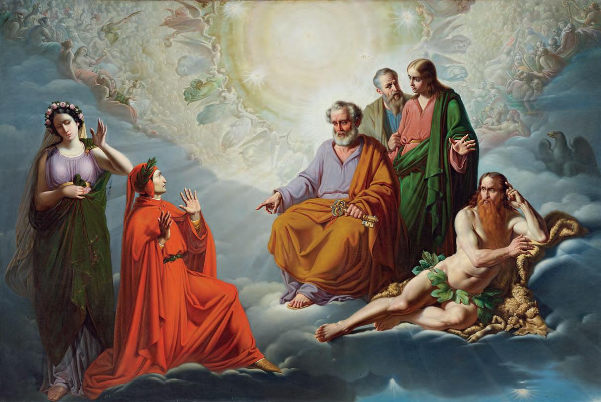 Tommaso De Vivo, Paradiso (1863; olio su tela, 161 x 240 cm; Napoli, Palazzo Reale, in comodato presso la Reggia di Caserta)