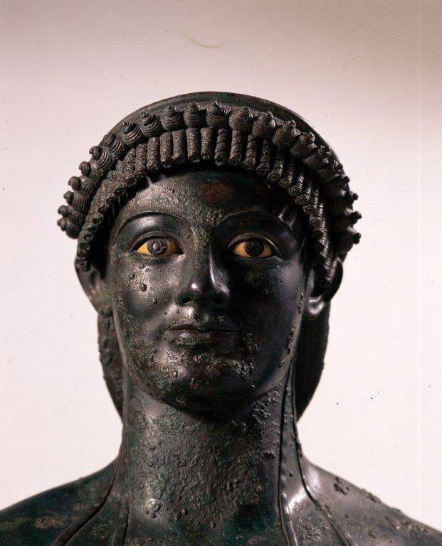 Statua di Apollo lampadoforo (I secolo a.C.; bronzo, Pompei, Parco Archeologico). © Archivio dell'Arte - Foto Luciano Marco Pedicini