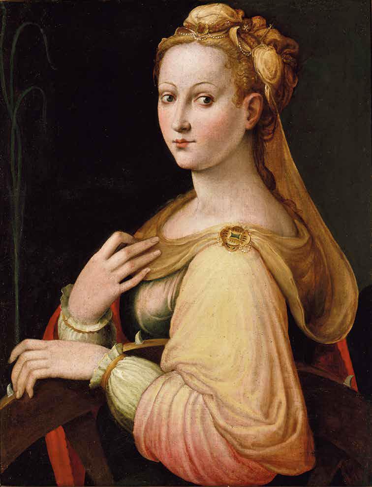 Barbara Longhi, Santa Caterina d'Alessandria (1580 circa; olio su tela, 70 x 53,5 cm; Bologna, Pinacoteca Nazionale, inv. 1097)