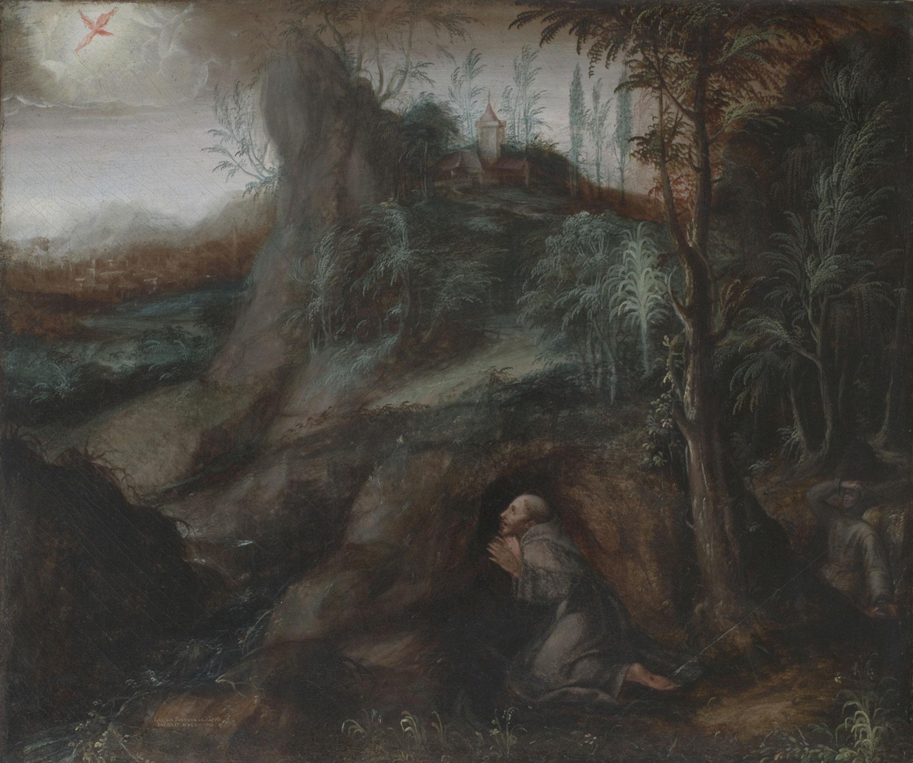 Lavinia Fontana, San Francesco riceve le stimmate (1579; olio su tela, 63 x 75 cm; Bologna, Seminario Arcivescovile, F7Z0068 - F7Z0069)