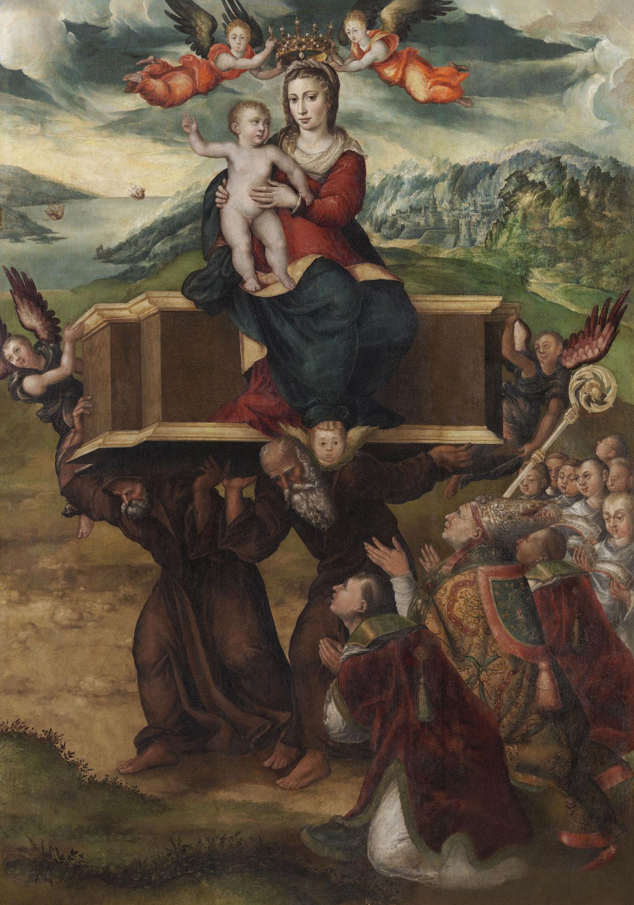 Sofonisba Anguissola, Madonna dell'Itria (1578-1579; olio su tavola, 239,5 x 170 cm; Paternò, parrocchia Santa Maria dell'Alto, chiesa dell'ex monastero della Santissima Annunziata)