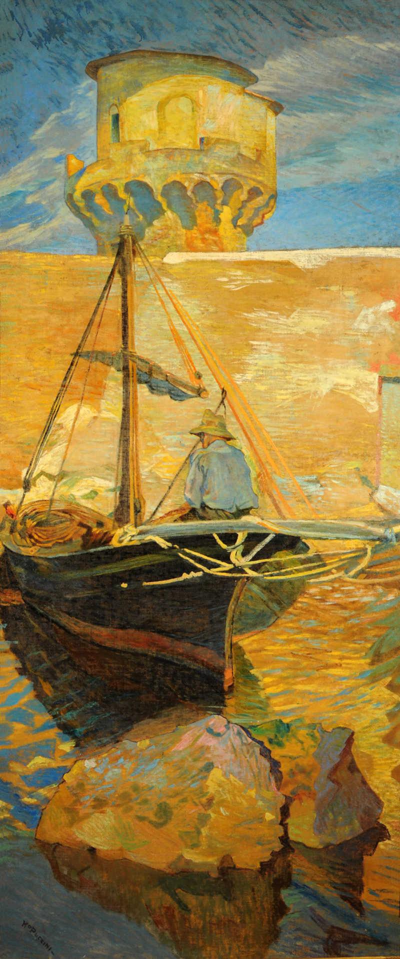 Mario Puccini, Il lazzaretto (1911; olio su tela; Livorno, collezione privata)
