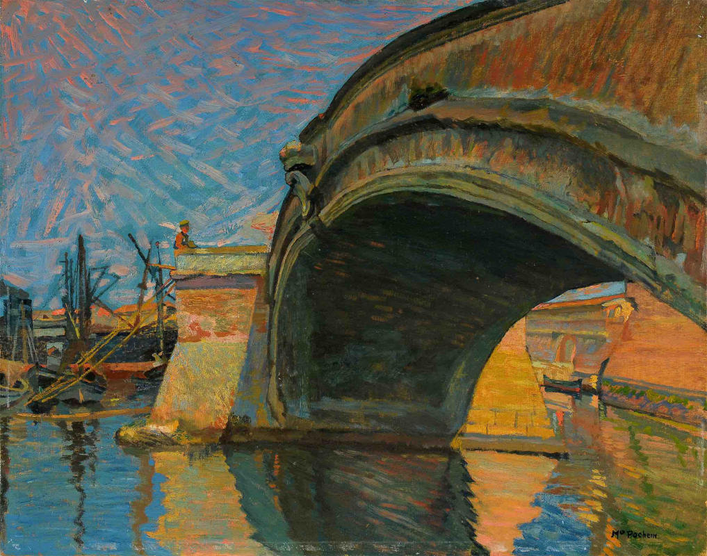Mario Puccini, Il ponte alla sassaia (olio su tavola; collezione Rangoni)