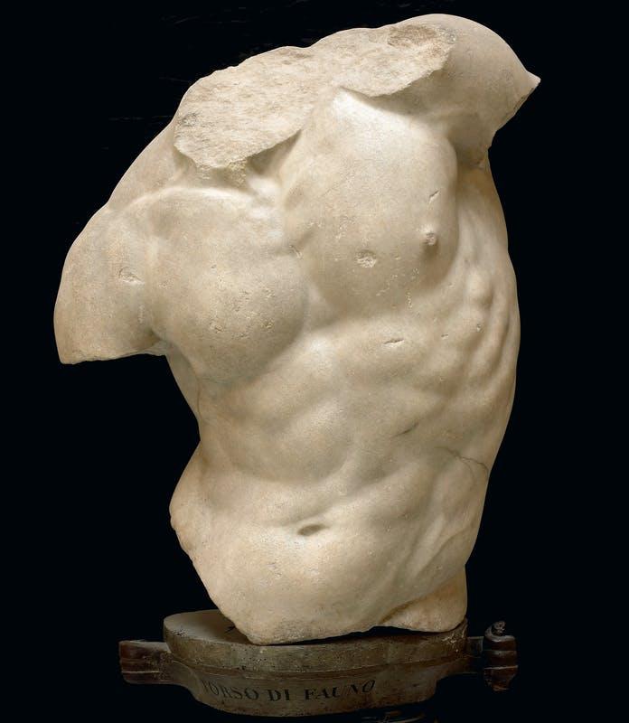 Arte greca, Torso Gaddi (I secolo a.C.; marmo greco, altezza 84 cm; Firenze, Uffizi)