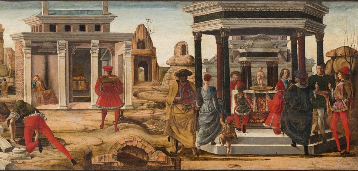 Ercole de' Roberti, Storie di san Vincenzo Ferrer, dettaglio