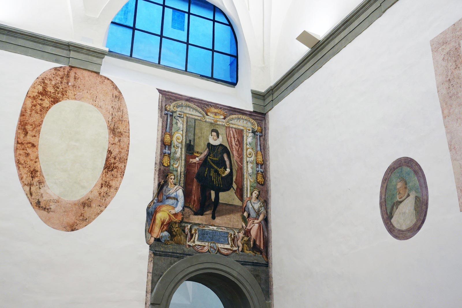 Uffizi, riemergono affreschi del Seicento dai lavori che rivoluzioneranno l'ingresso