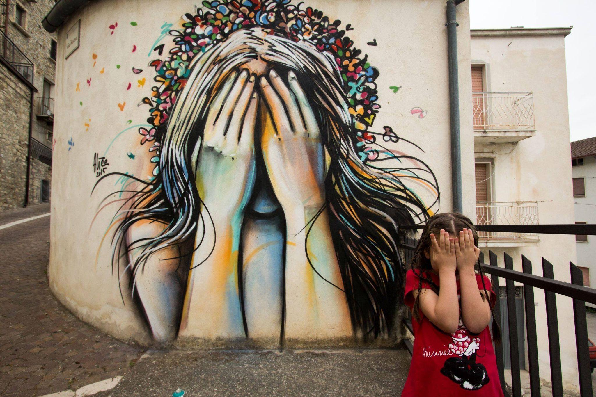 Rischia la distruzione il famoso murale di Civitacampomarano, in Molise